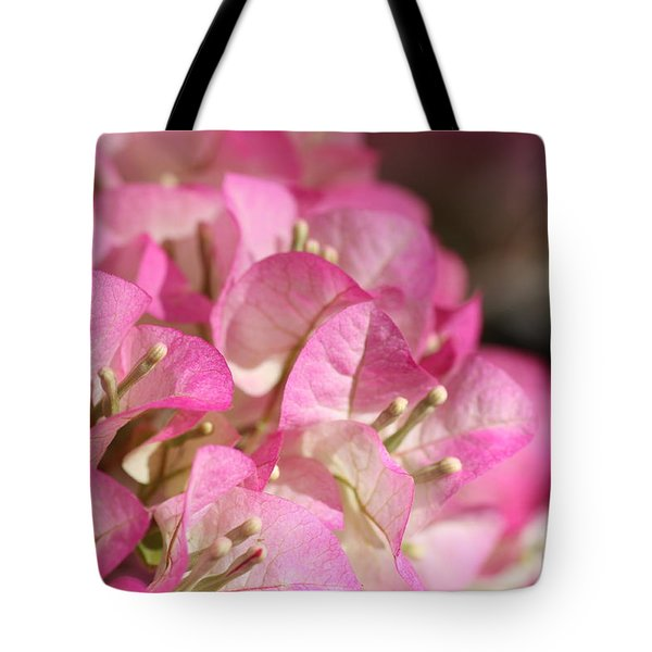 Papery In Pink Tote Bag by Cathy Dee Janes