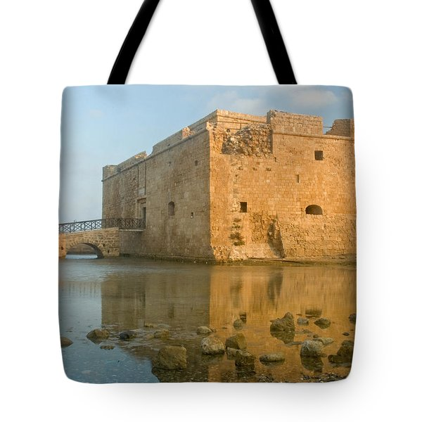 Paphos Harbour Castle Tote Bag