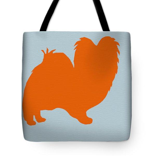 Papillion Orange Tote Bag by Naxart Studio
