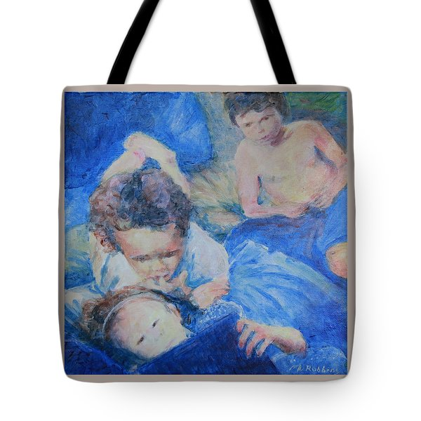 Papo's Putti Tote Bag by Mark Robbins