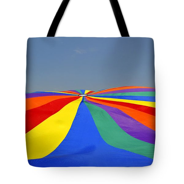 Parachute Of Many Colors Tote Bag