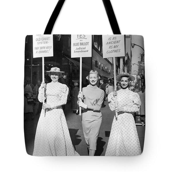 Parade For Court Reform Tote Bag