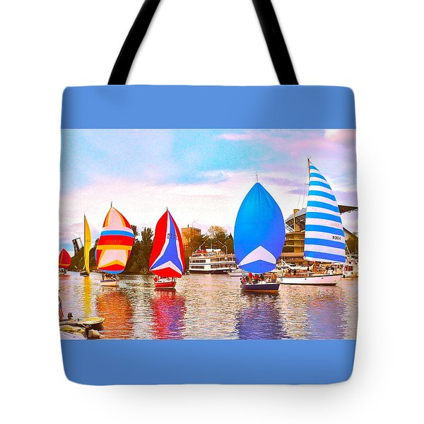 Parade Of Floating Colors Tote Bag by Gem S Visionary