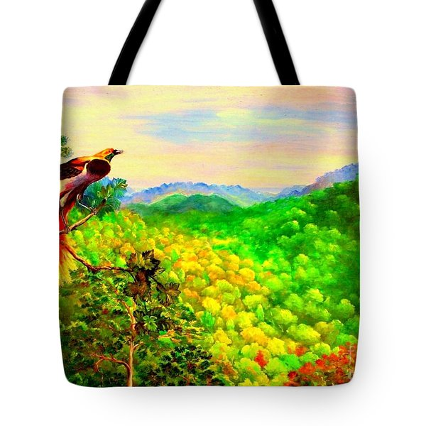 Paradise Bird Of Papua Tote Bag