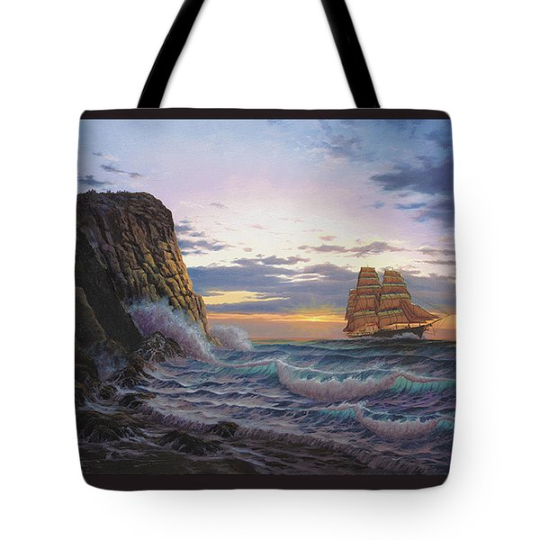 Paradise Cove And The Lightning  Tote Bag