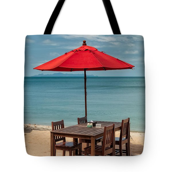 Paradise Dining Tote Bag by Adrian Evans