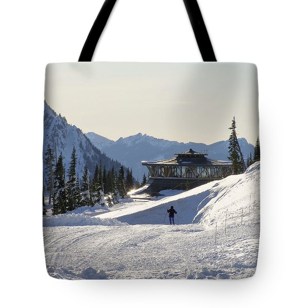 Paradise Found And Lost - Mt. Rainier Tote Bag