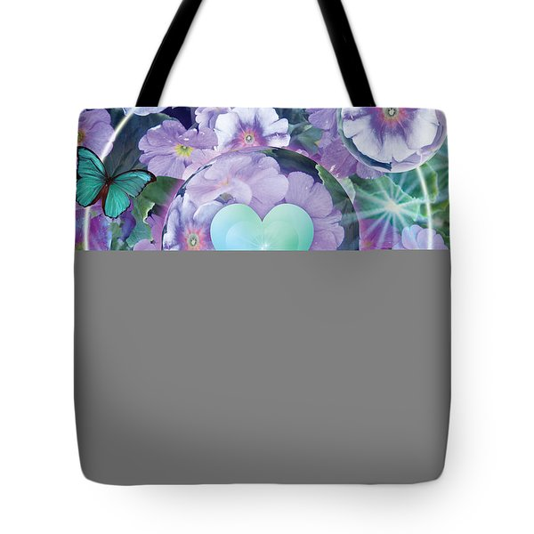 Paradise Garden Heart Tote Bag by Alixandra Mullins