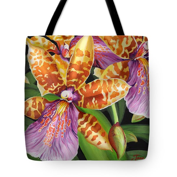 Tote Bag featuring the painting Paradise Orchid by Jane Girardot