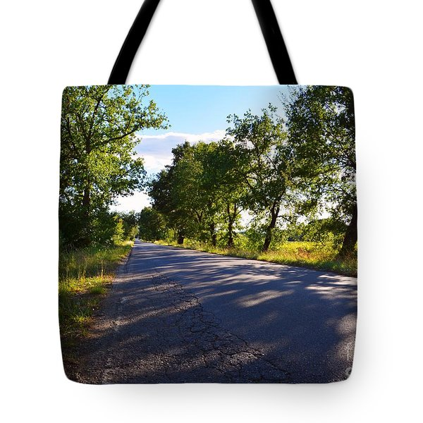 Tote Bag featuring the photograph Paradise Road by Ramona Matei