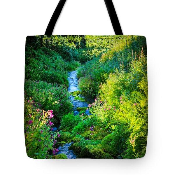 Paradise Stream Tote Bag by Inge Johnsson