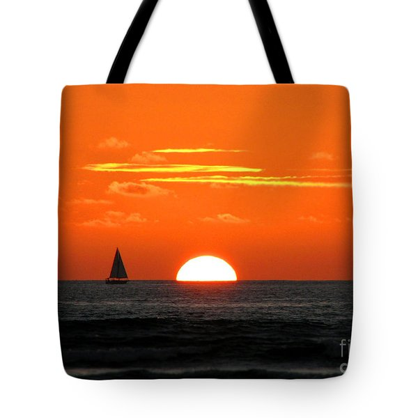 Paradise Sunset Sail Tote Bag