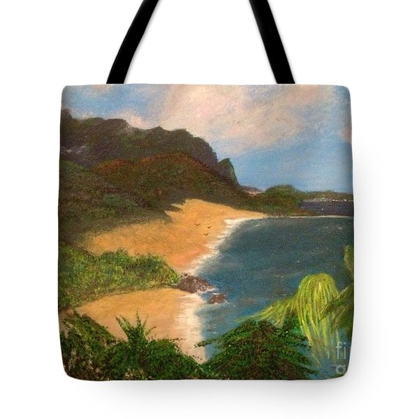 Tote Bag featuring the painting Paradise by Vanessa Palomino