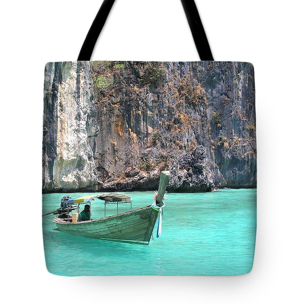Paradise Water Holiday Tote Bag
