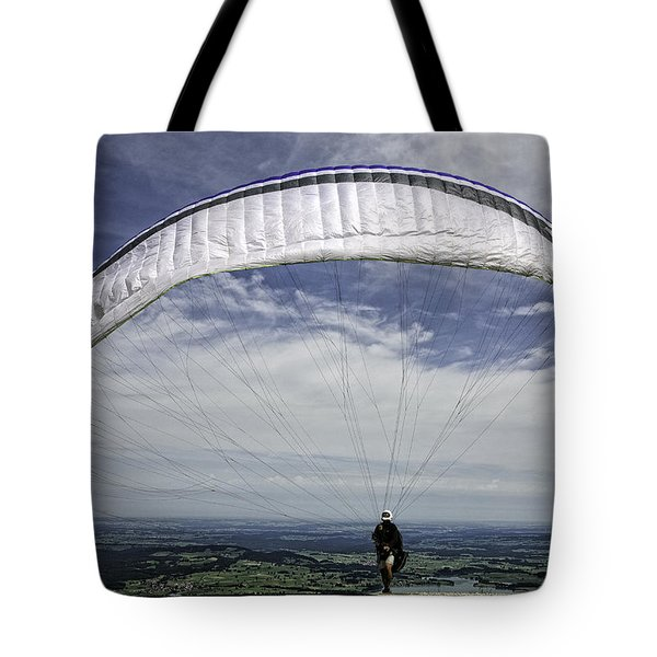 Paragliding  Tote Bag by Joanna Madloch