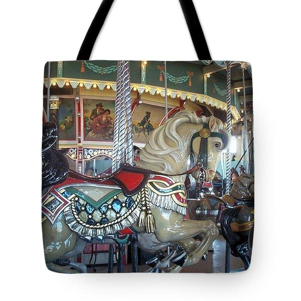 Paragon Carousel Nantasket Beach Tote Bag