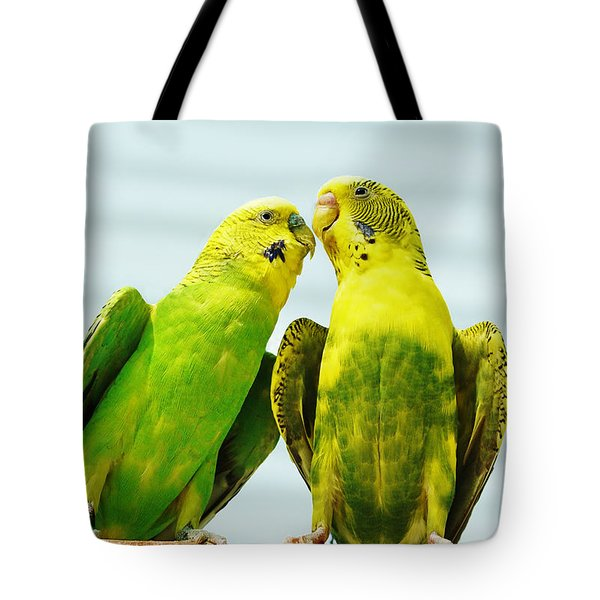 Parakeet Love Tote Bag