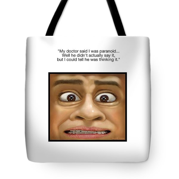 Paranoia Tote Bag by Scott Ross