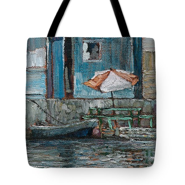 Tote Bag featuring the painting Parasol by Ritchie Eyma