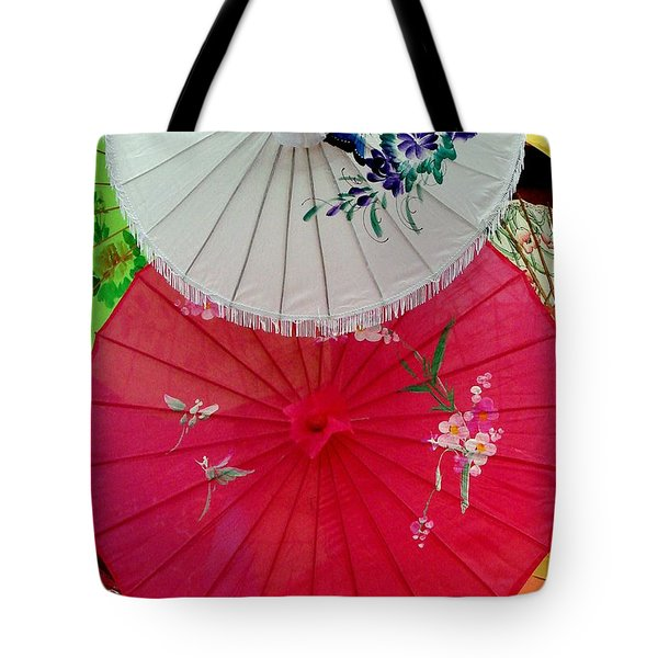 Parasols 1 Tote Bag by Rodney Lee Williams