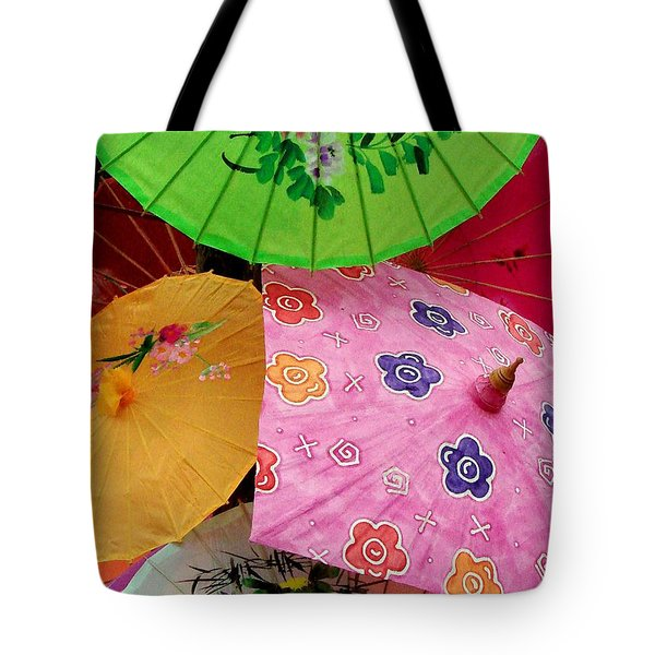 Parasols 2 Tote Bag by Rodney Lee Williams