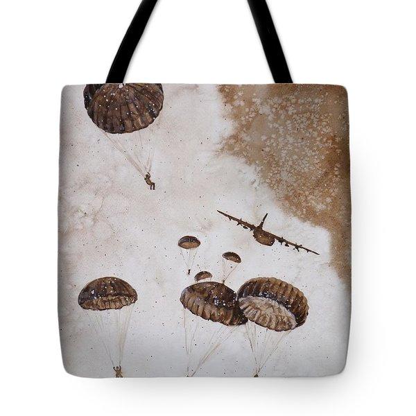 Paratroopers Tote Bag by Zaira Dzhaubaeva
