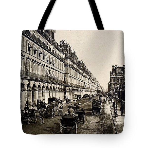 Paris 1900 Rue De Rivoli Tote Bag