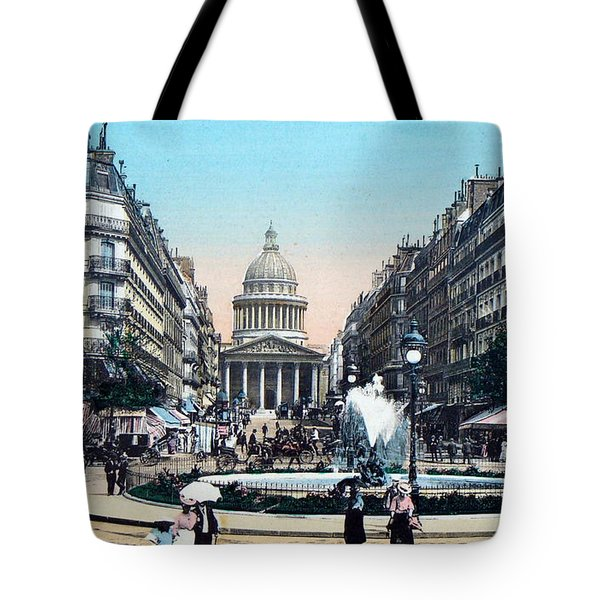 Paris 1910 Rue Soufflot And Pantheon Tote Bag