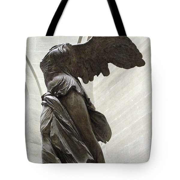 Paris Angel Louvre Museum- Winged Victory Of Samothrace Tote Bag