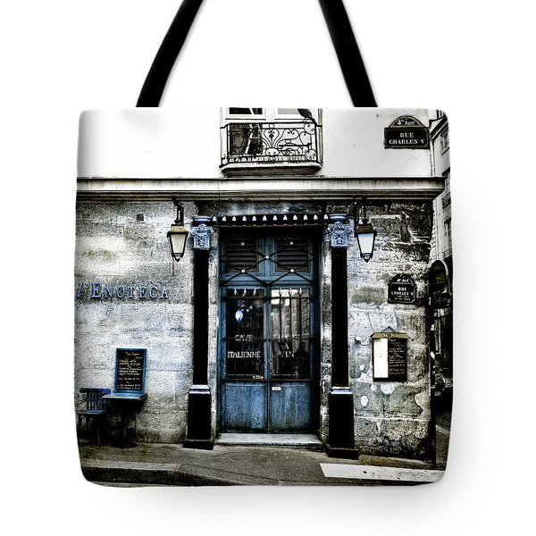 Paris Blues Tote Bag