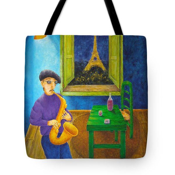 Paris Blues Tote Bag by Pamela Allegretto