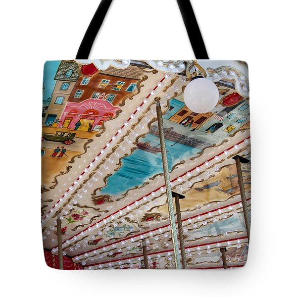 Tote Bag featuring the photograph Paris Carousel by Glenn DiPaola