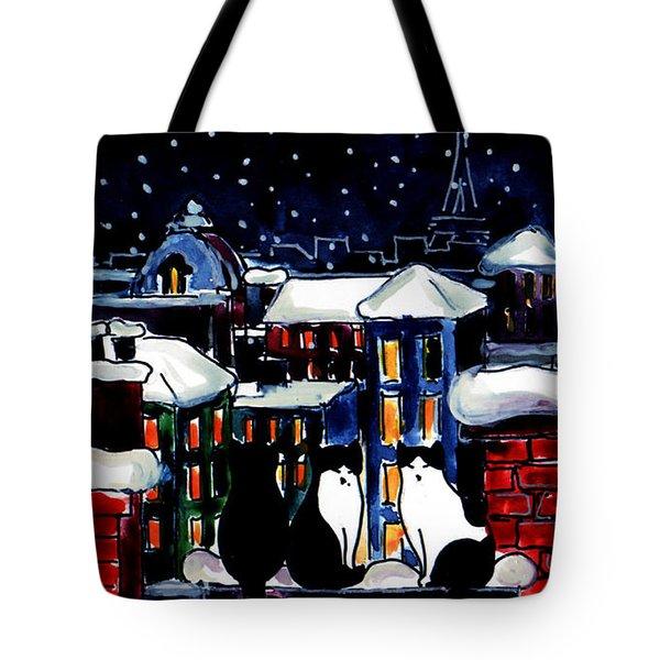 Paris Cats Tote Bag