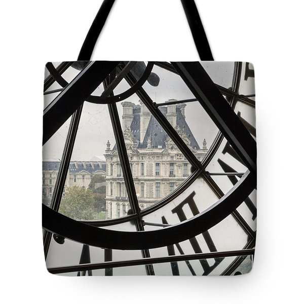 Paris Clock Tote Bag by Brian Jannsen