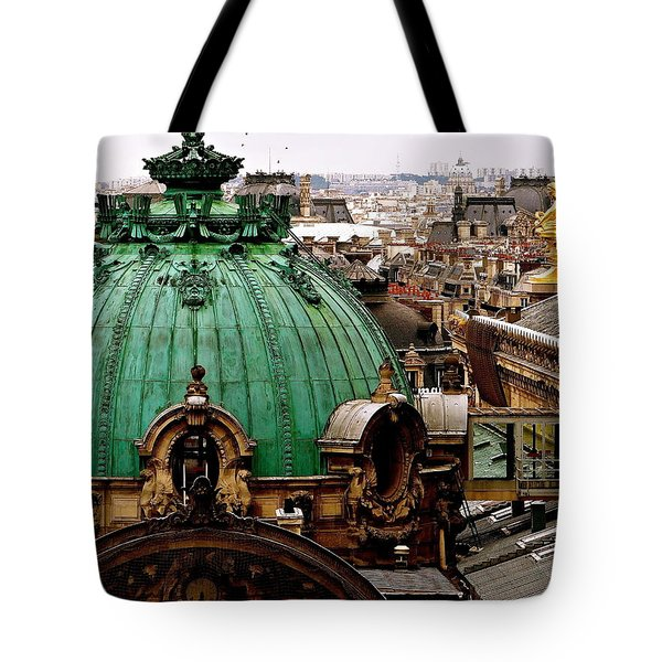 Paris Drizzles Tote Bag
