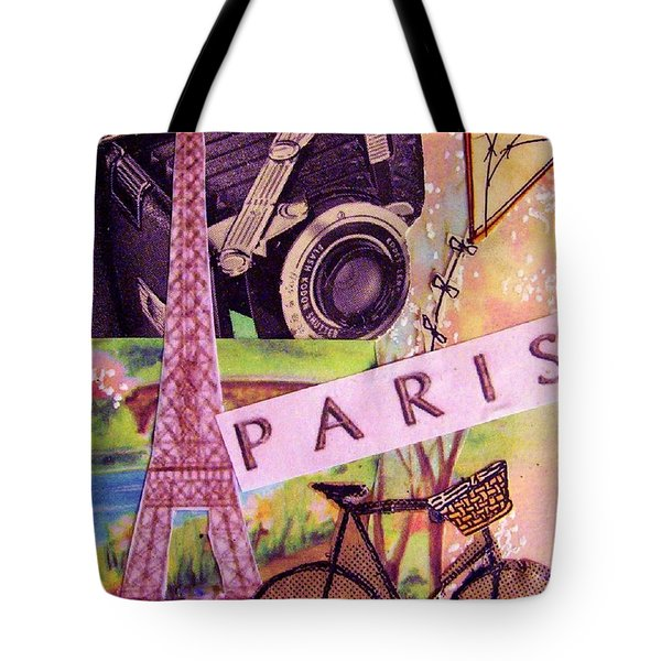Tote Bag featuring the drawing Paris  by Eloise Schneider