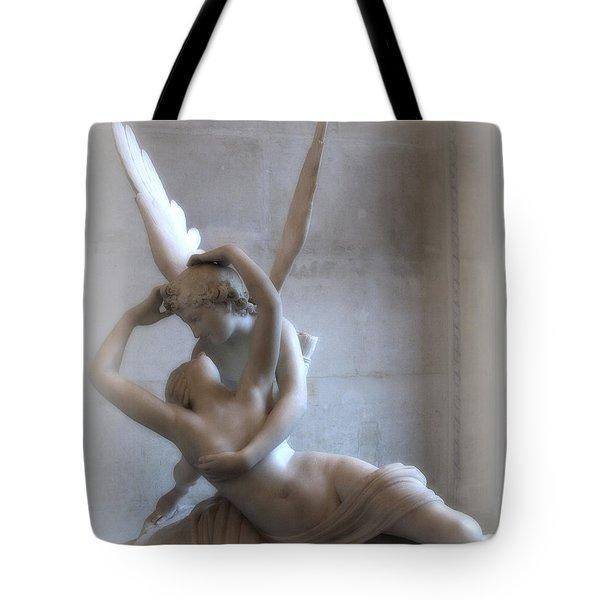 Paris Eros Psyche Angels Louvre Museum - Paris Angel Art - Paris Romantic Eros And Psyche Art  Tote Bag