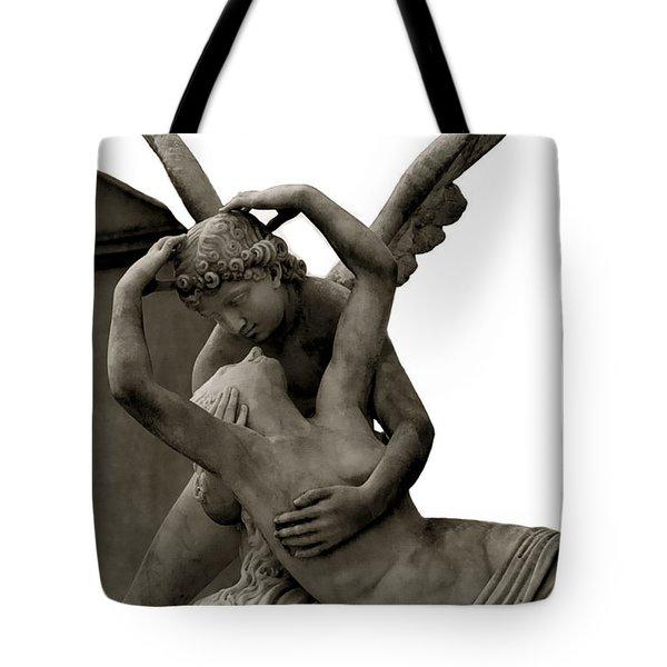 Paris - Eros And Psyche - Romantic Angel Art Sculpture Statue - Famous Paris Lovers Angel Art Tote Bag