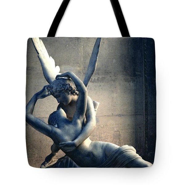 Paris Eros And Psyche Romantic Lovers - Paris In Love Eros And Psyche Louvre Sculpture  Tote Bag
