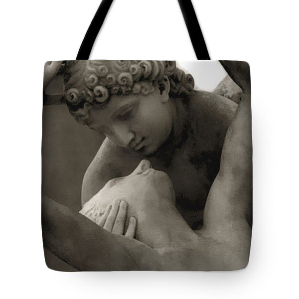 Paris - Eros And Psyche Romantic Sculpture Tote Bag