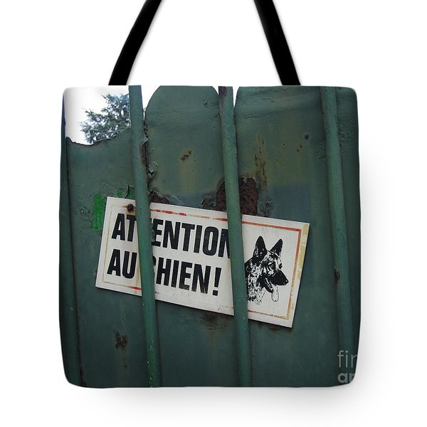 Paris - Farm Dog Tote Bag by HEVi FineArt