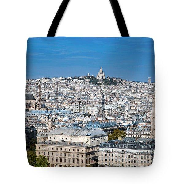Paris France Sacre-coeur Basilica Tote Bag by Michal Bednarek