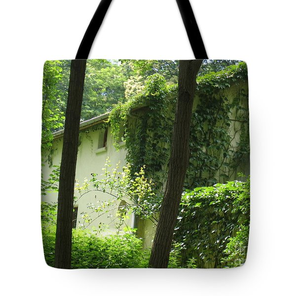 Paris - Green House Tote Bag by HEVi FineArt