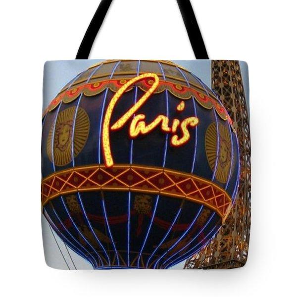 Paris In Vegas Tote Bag by John Malone