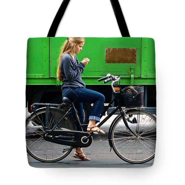 Tote Bag featuring the photograph Paris Interlude by Ira Shander