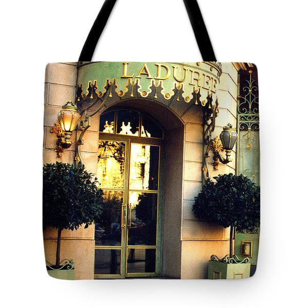 Paris Laduree French Bakery Patisserie - Champs Elysees Location Tote Bag