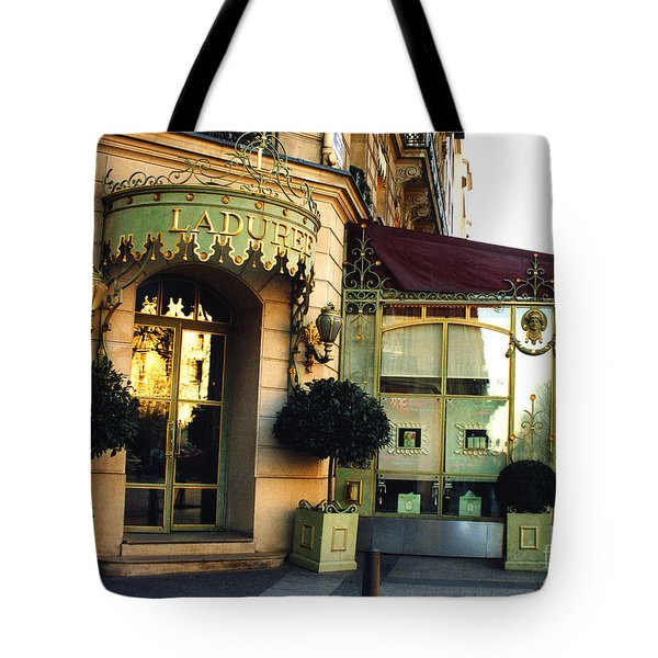 Paris Laduree Macaron French Bakery Patisserie Tea Shop - Champs Elysees - The Laduree Patisserie Tote Bag