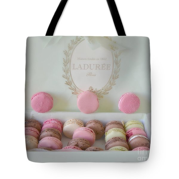 Paris Laduree Pastel Macarons - Paris Laduree Box - Paris Dreamy Pink Macarons - Laduree Macarons Tote Bag