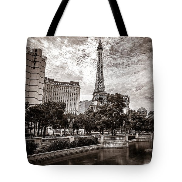 Paris Las Vegas Tote Bag