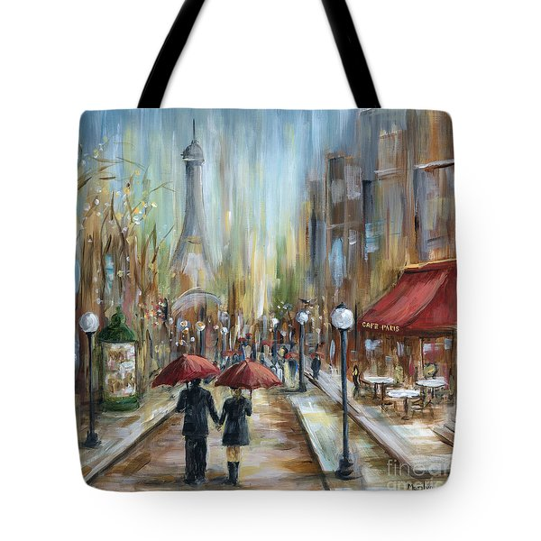 Paris Lovers Ill Tote Bag